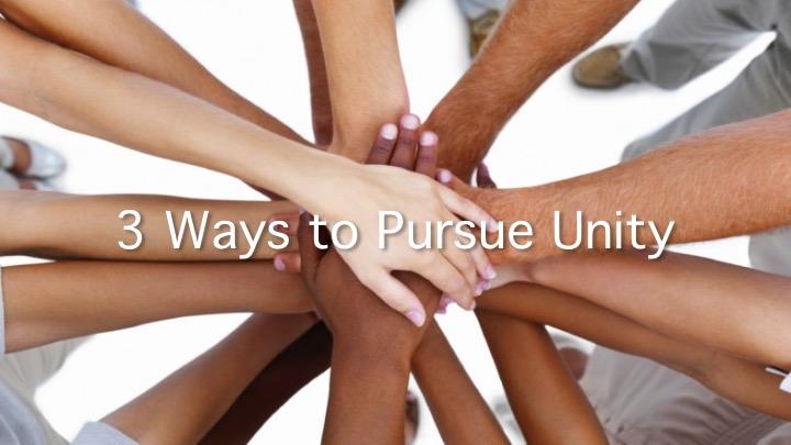 3 Ways to pursue unity